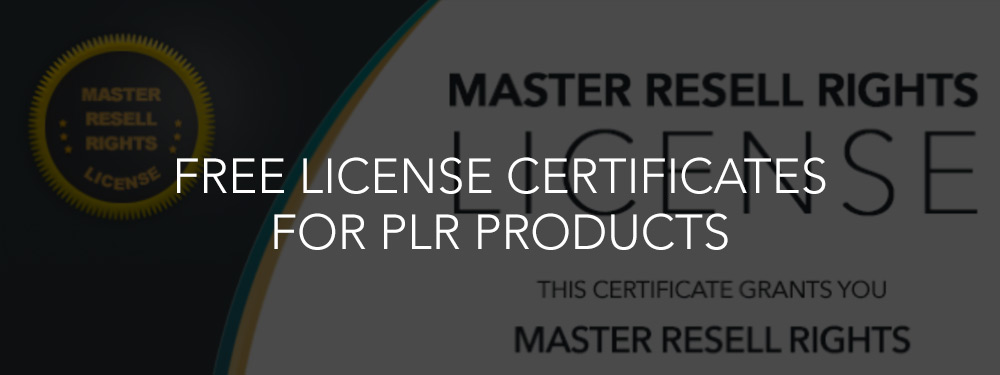Free License Certificates For PLR Products