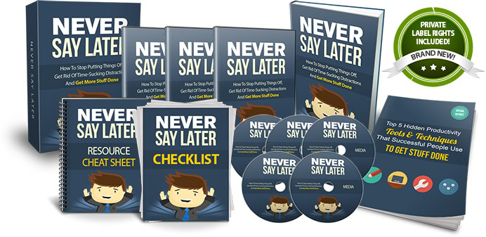 Never Say Later Cover